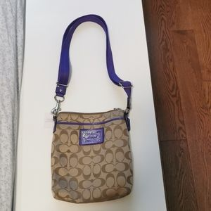 Coach Purple Swingpack Crossbody Handbag
